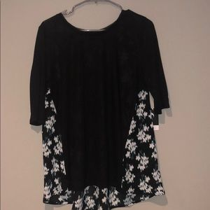 Simply Vera black shirt with sheer floral back